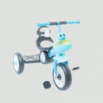 دراجة اطفال مع اضاءة  ثلاث عجلات - مقعد واحد - لون سماوي رقم 819
