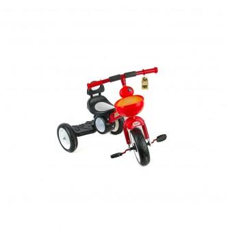 دراجة اطفال مع اضاءة ثلاث عجلات - مقعد واحد - لون احمر رقم 819