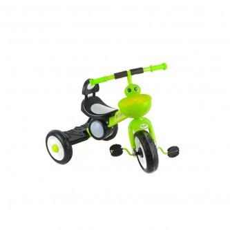 دراجة اطفال مع اضاءة ثلاث عجلات - مقعد واحد - لون اخضر  رقم 819