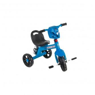 دراجة اطفال ثلاث عجلات مقعد واحد لون سماوي  رقم 618-1
