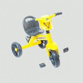 دراجة اطفال ثلاث عجلات مقعد واحد لون اصفر رقم 618-1