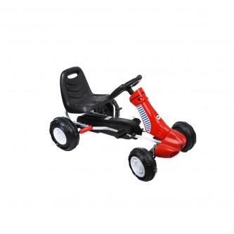 سيارة بدال 4 عجلات للاطفال فرامل يد لون احمر موديل K03
