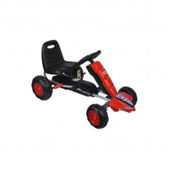 سيارة بدال 4 عجلات للاطفال فرامل يد لون احمر موديل K05