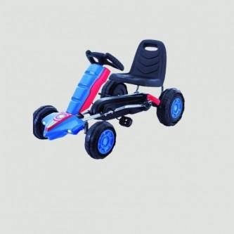 سيارة بدال 4 عجلات للاطفال فرامل يد لون ازرق موديل K05