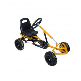 سيارة بدال 4 عجلات للاطفال فرامل يد لون اصفر موديل CAR01