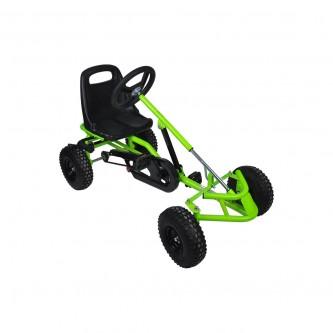 سيارة بدال 4 عجلات للاطفال فرامل يد لون اخضر موديل CAR01