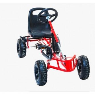 سيارة بدال 4 عجلات للاطفال فرامل يد لون احمر موديل CAR01