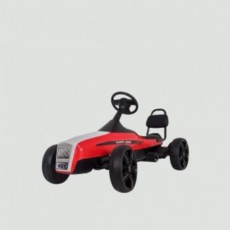 سيارة بدال 4 عجلات للاطفال فرامل يد لون احمر موديل K01