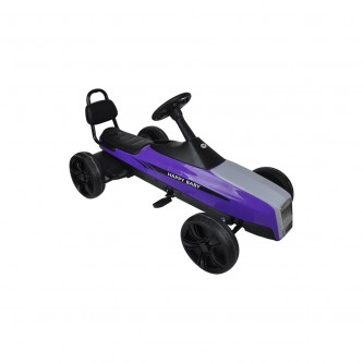 سيارة بدال 4 عجلات للاطفال فرامل يد لون موف موديل K01