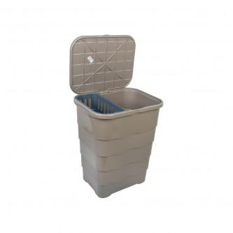 سله غسيل بلاستيك مستطيل بغطاء رقم 9685