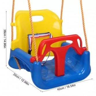 مرجيحة اطفال كرسي مع حزام امان وحبال للتعليق الوان متعددة رقم TB538