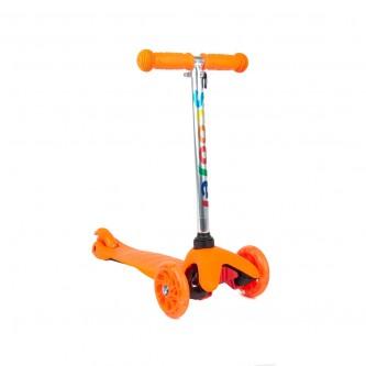سكوتر بلاستيك 3 كفرات لون برتقالي رقم FF4129