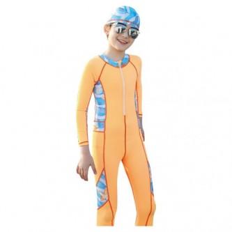 سويم لايف - بدلة سباحة للأطفال بقبعة مقاس  XL