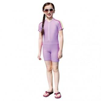سويم لايف - بدلة سباحة للأطفال بقبعة مقاس  M