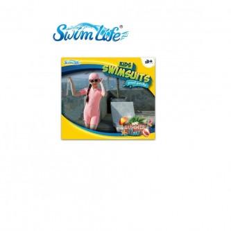 سويم لايف - بدلة سباحة للأطفال بقبعة لون برتقالي مقاس  XXXL