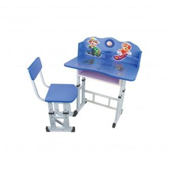 طاولة اطفال مدرسية خشب + كرسي - لون ازرق A-99