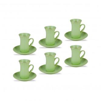 طقم بيالات شاي سيراميك مع الصحون 12 قطعة من ماي مارت YM-16248