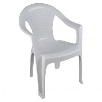 كرسي بلاستيك بذراعين لون ابيض رقم FG3028