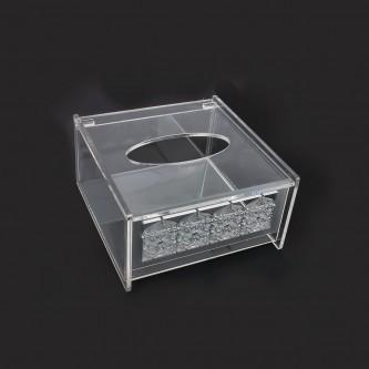 علبة مناديل شفاف اكريليك - موديل -999907