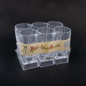 كاسات بلاستيك شفاف طقم 6 حبة رقم  P005